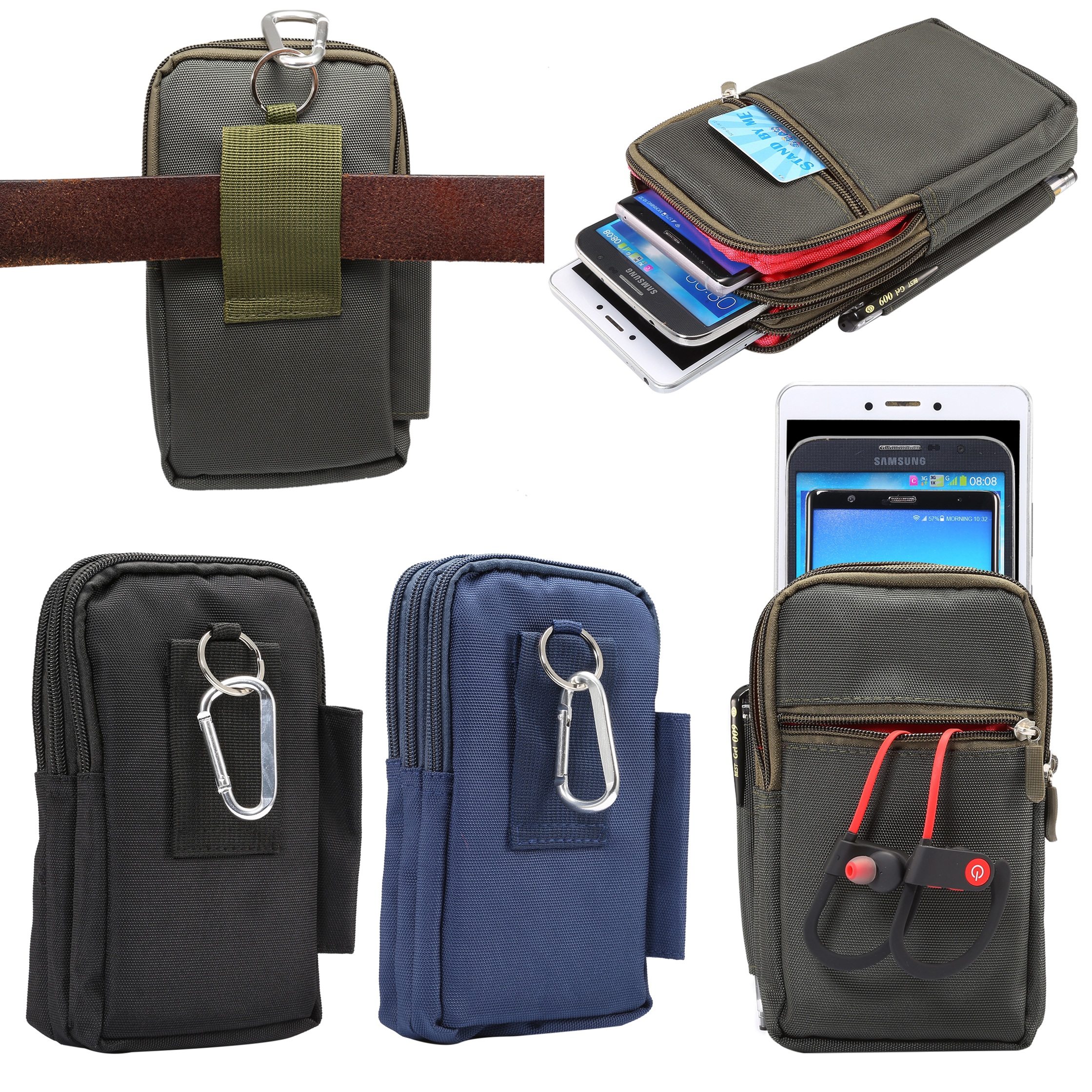088eaeb595 Multi-Function Outdoor Travel Sport Phone Belt Clip Zipper Pouch Waist Bag  - 7