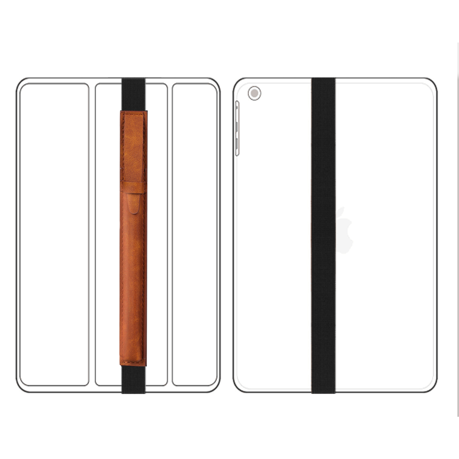 For-Apple-Pencil-Case-Leather-iPad-Pen-Cover-Sleeve-Pouch-Bag-Holder-Protector thumbnail 13