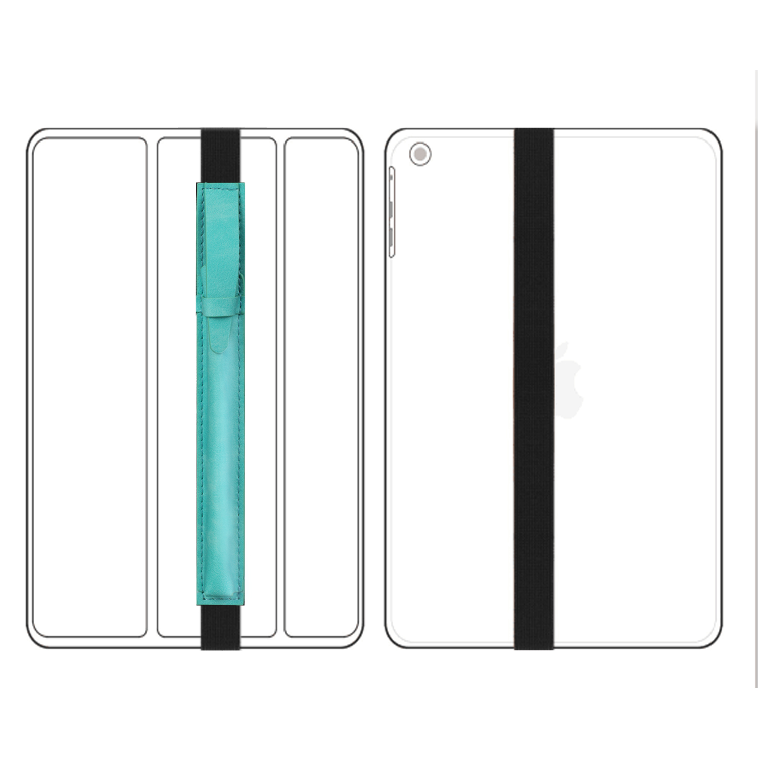 For-Apple-Pencil-Case-Leather-iPad-Pen-Cover-Sleeve-Pouch-Bag-Holder-Protector thumbnail 31