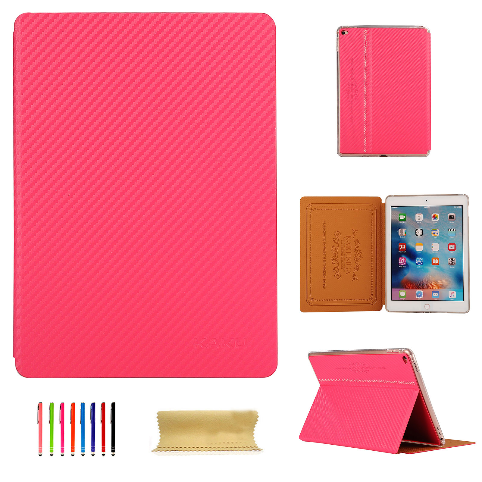 Carbon-Fiber-Ultra-Thin-Magnetic-Smart-Case-Cover-For-iPad-2-Pro-9-7-039-039-Mini-Air