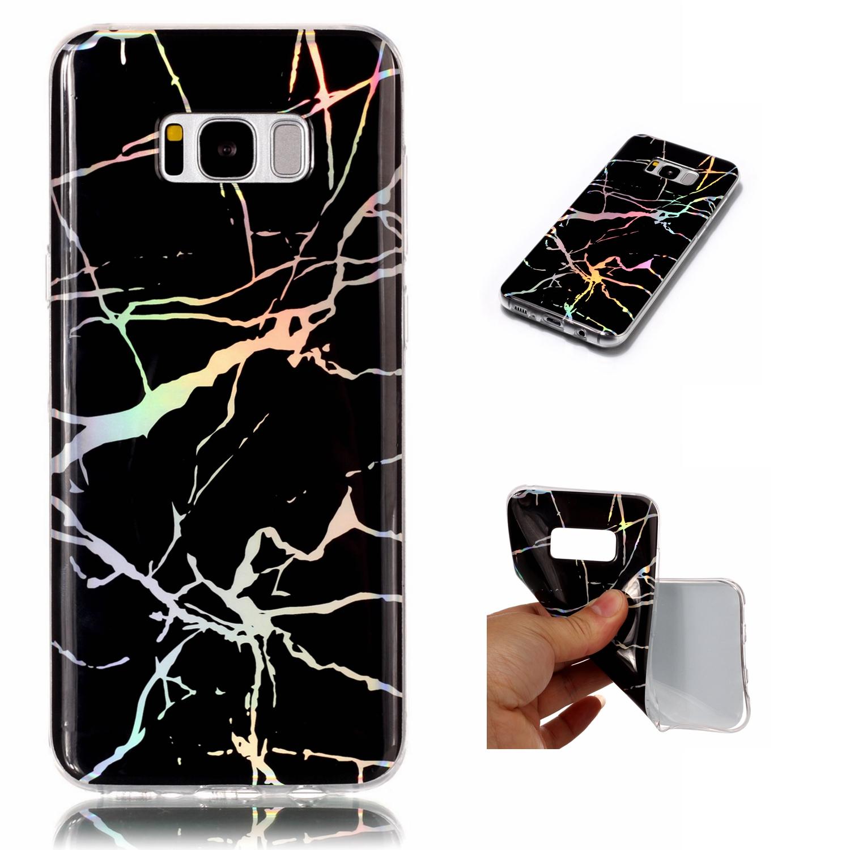 Retro Slim Granite Marble Pattern Soft Tpu Case Cover Fr