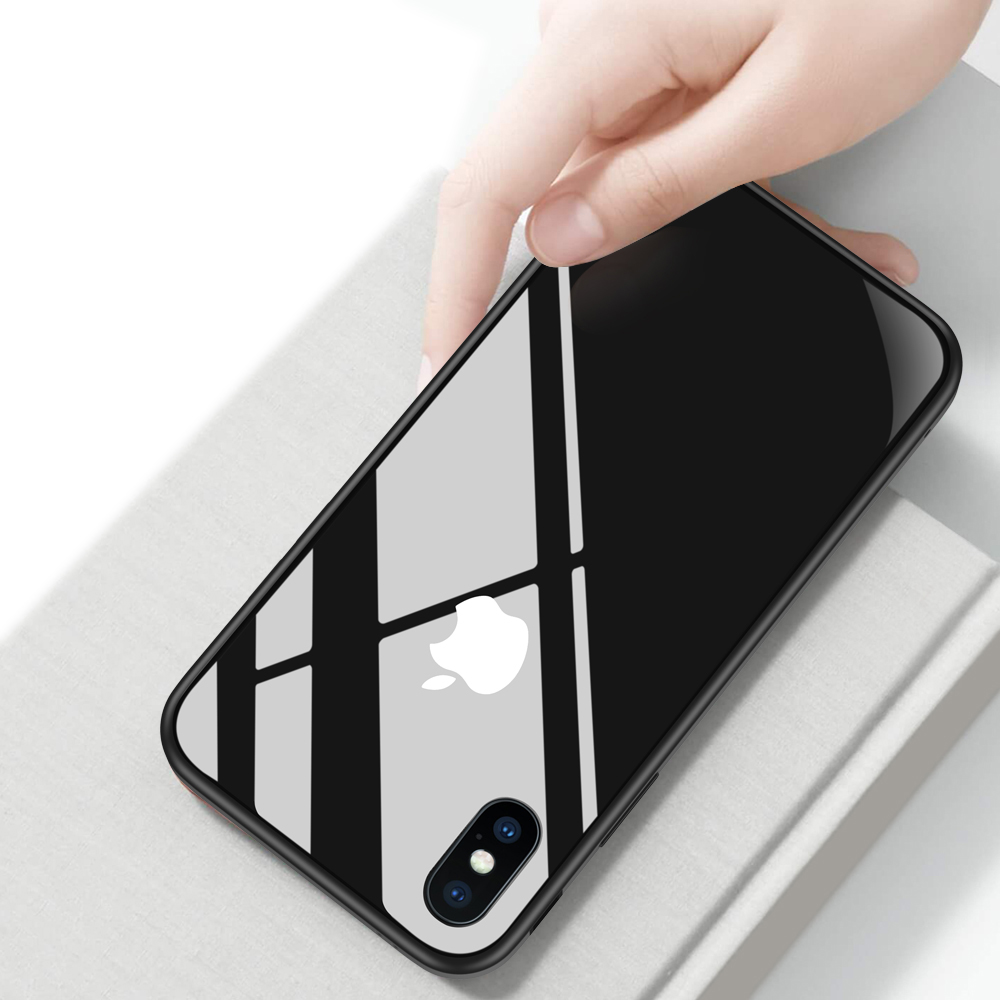 brand new 5cd01 920b3 Details about Slim Tempered Glass Clear Case Aluminium Bumper Cover For  iPhone X/8 XR XS Max