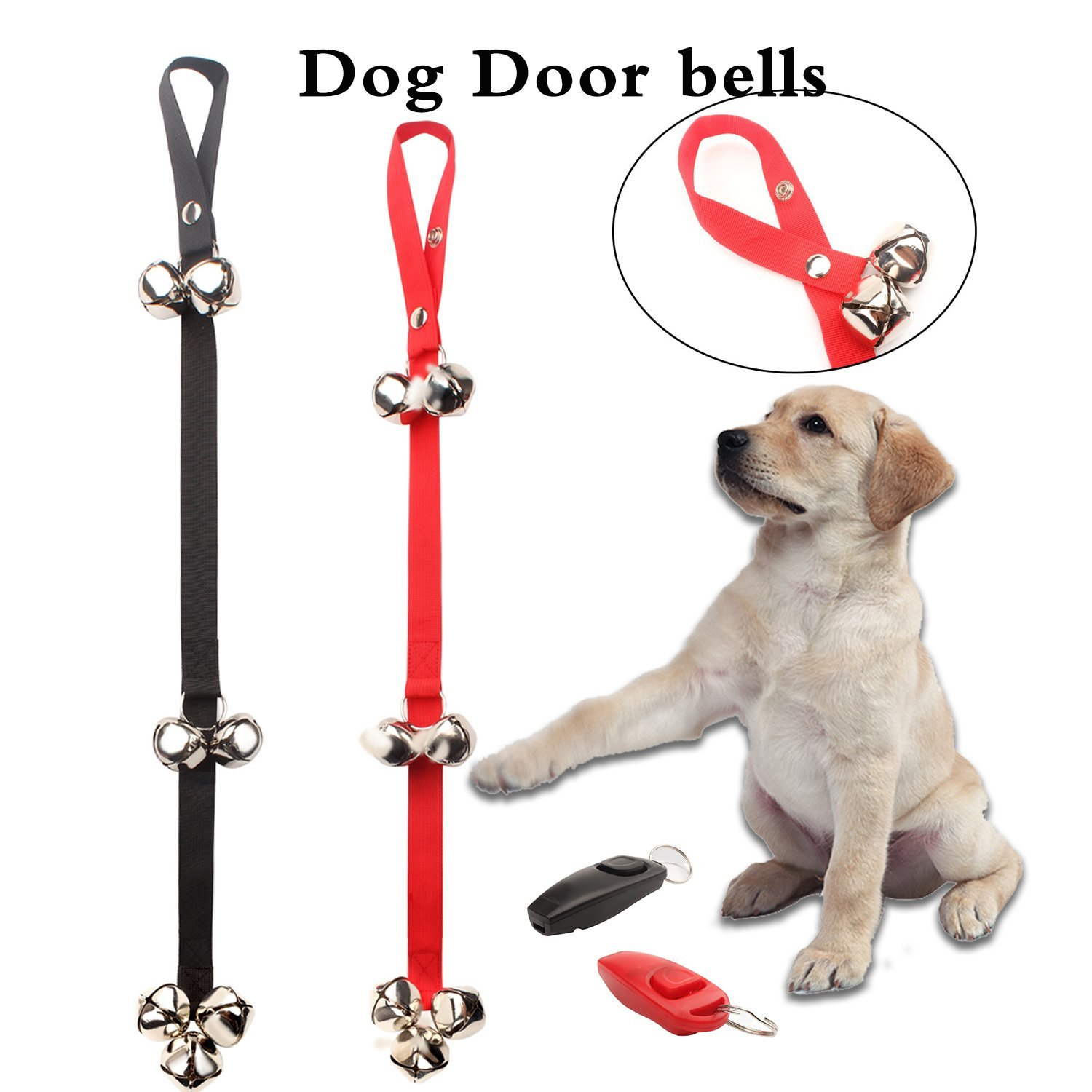 2 Pcs Pet Doorbell Rope Dog Toy Housetraining And Communicate Alarm