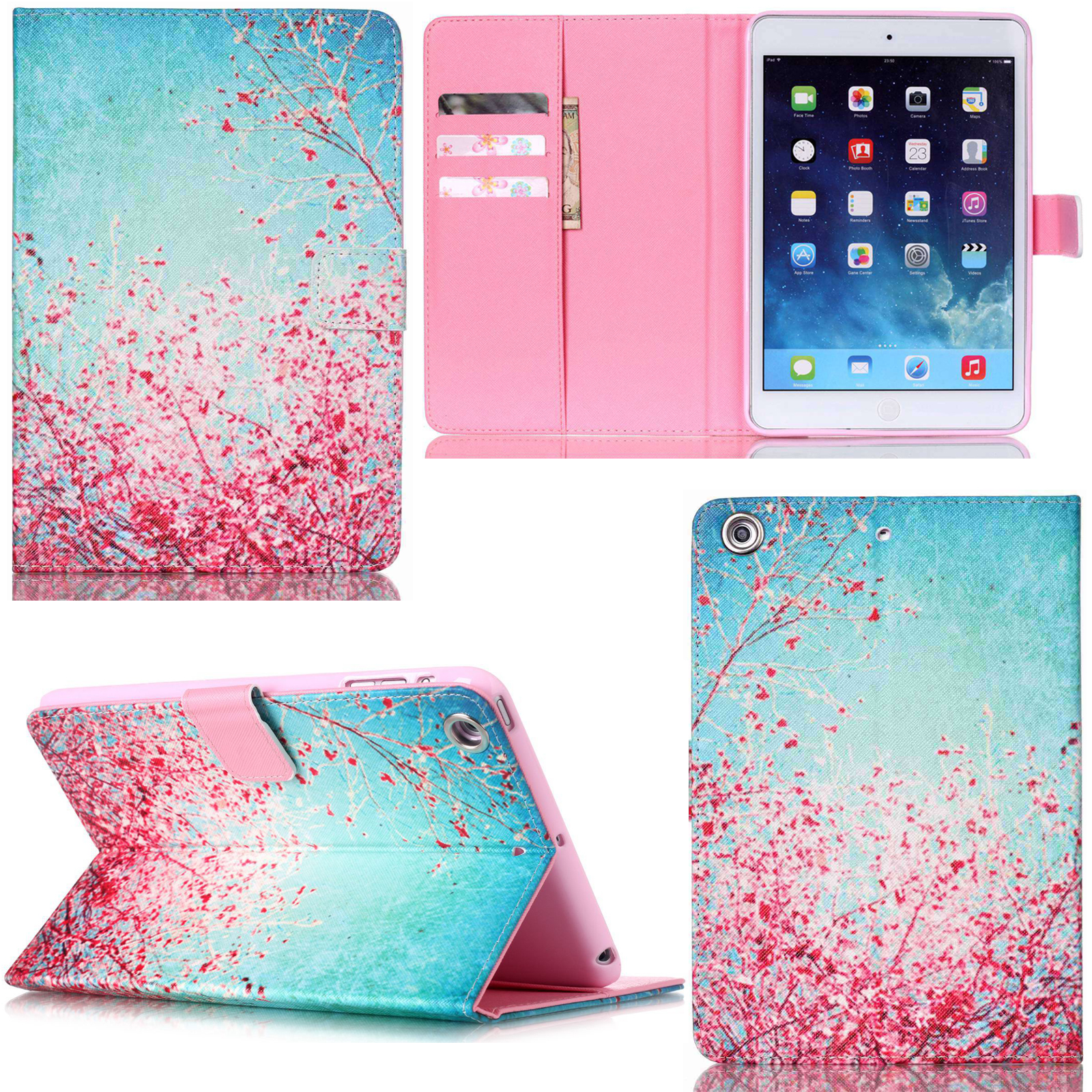 for apple ipad 2 3 4 mini air 2 stand slim smart pattern leather case cover skin ebay. Black Bedroom Furniture Sets. Home Design Ideas