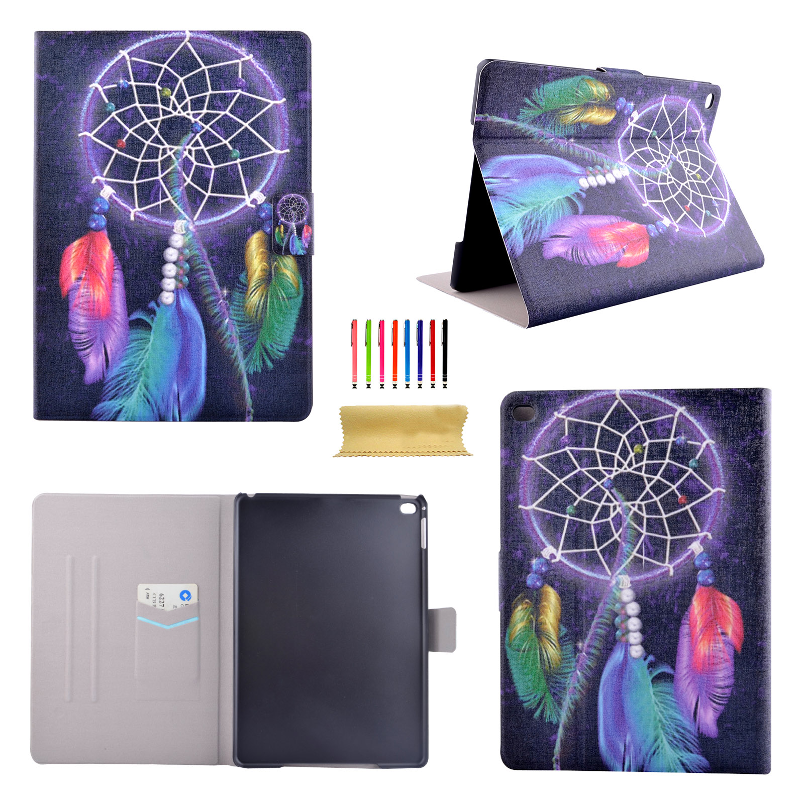 smart magnetic pattern pu leather case cover for ipad 5th. Black Bedroom Furniture Sets. Home Design Ideas